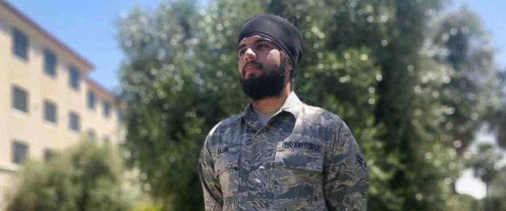 PHOTO: U.S. Air Force airman, Harpreetinder Singh Bajwa, shown in this undated photo, will be the first Sikh active-duty airman to serve with a beard, turban, and unshorn hair.