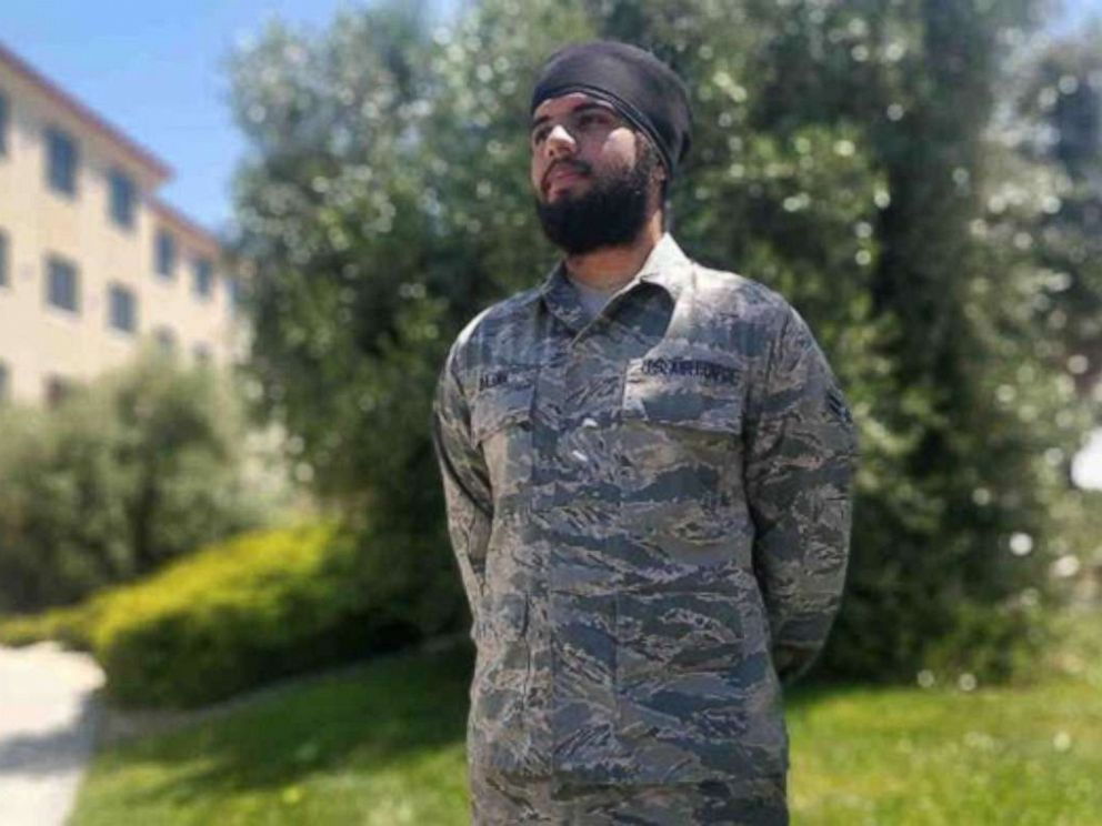 65b3b487 Air Force allows first Sikh airman to wear turban and beard - ABC News
