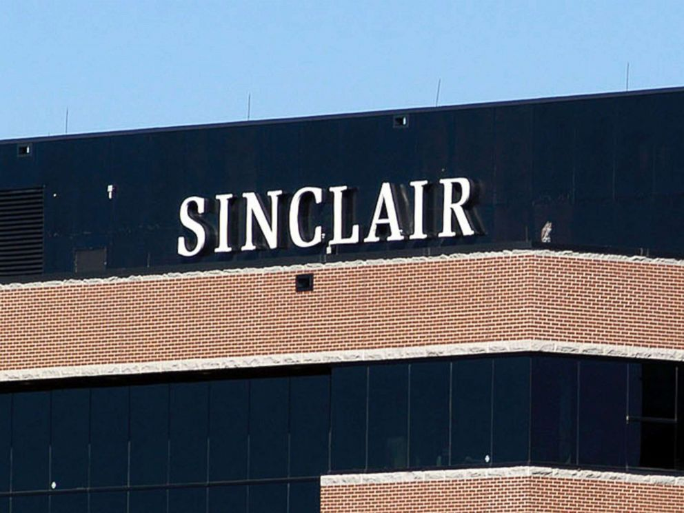 PHOTO: A sign on the Sinclair Broadcast building is seen, Oct. 12, 2004, in Hunt Valley, Md.