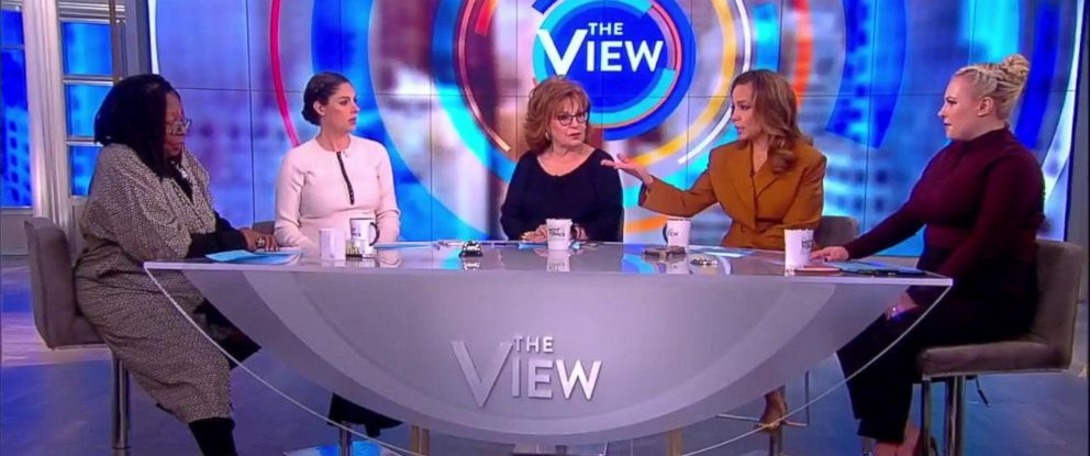 """PHOTO: """"The View"""" co-hosts discussed the place of a moderate bid in the 2020 presidential election after Howard Schultz announced he is considering running as an independent."""