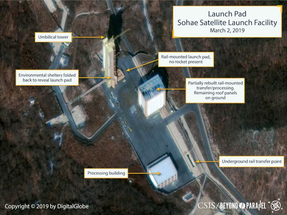Sohae Launch Facility in North Korea, March 2, 2019.