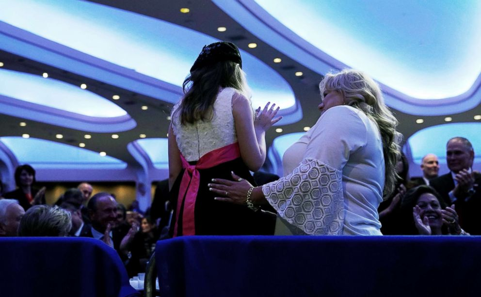 PHOTO: Sophia Marie Campa-Peters, is acknowledged at the National Prayer Breakfast in Washington, D.C., Feb. 8, 2018.