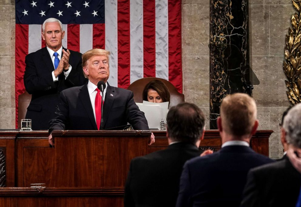 PHOTO: President Donald Trump delivers the State of the Union address at the U.S. Capitol in Washington, Feb. 5, 2019.