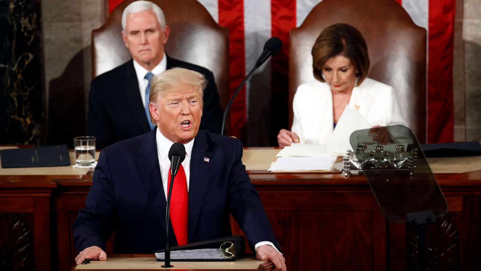 Trump Delivers Triumphant State Of The Union On Eve Of Expected Images, Photos, Reviews