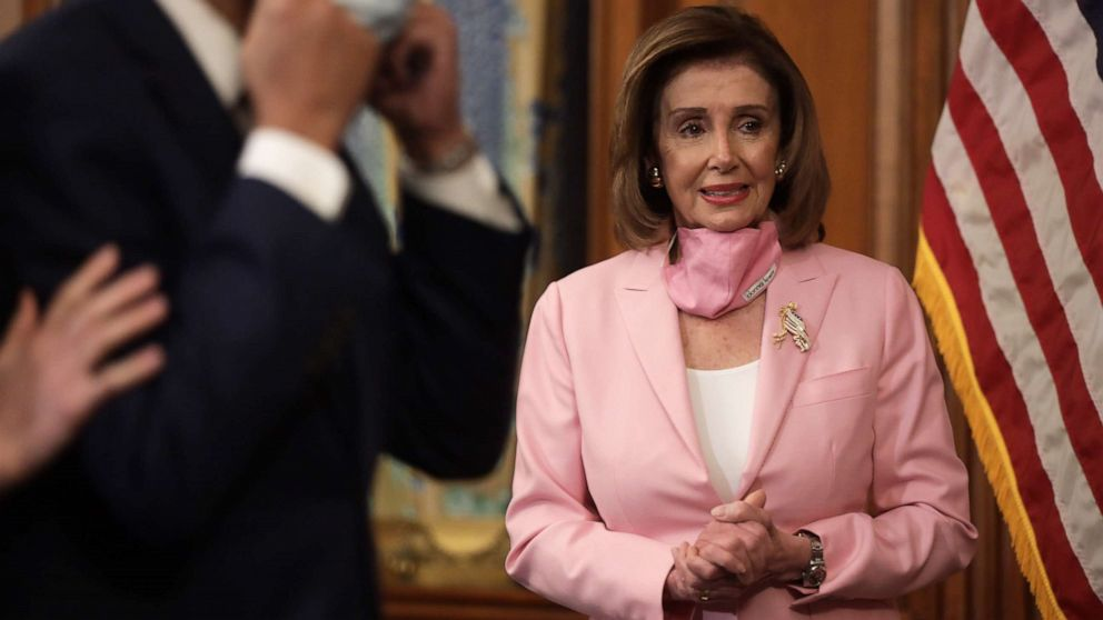 Nancy Pelosi, Tim Kaine among lawmakers making style statements with masks