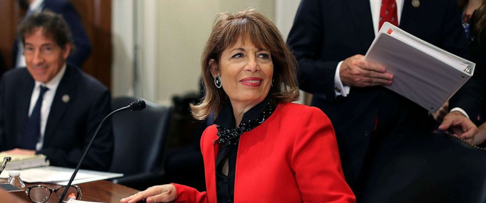 PHOTO: Rep. Jackie Speier joins members of the House Administration Committee during a hearing on preventing sexual harassment in Congress in the Longworth House Office Building on Capitol Hill December 7, 2017 in Washington, DC.
