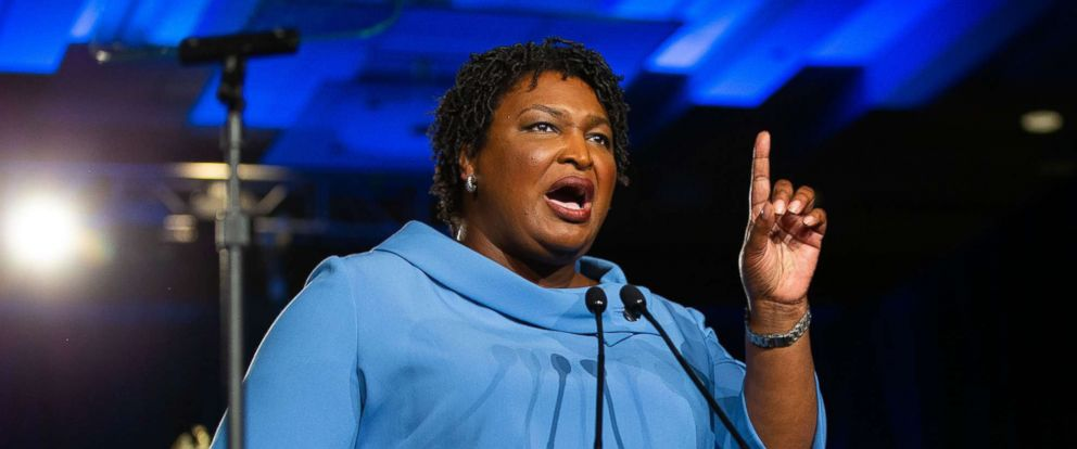 PHOTO: Stacey Abrams speaks during an election night watch party in Atlanta, Nov. 6, 2018.