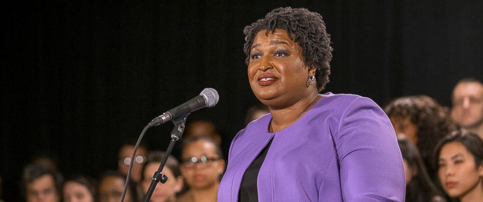 PHOTO: Georgia gubernatorial candidate Stacey Abrams makes remarks during a press conference at the Abrams Headquarters in Atlanta, Nov. 16, 2018.