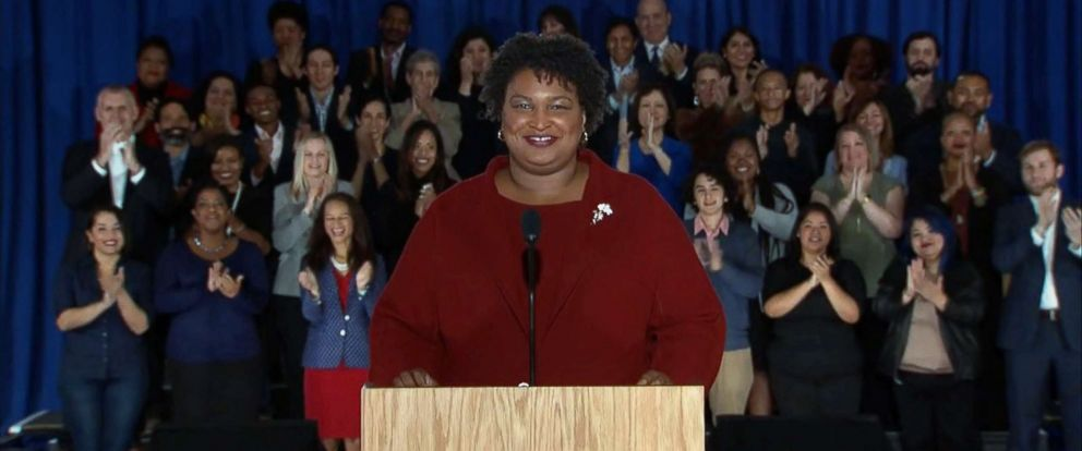 PHOTO: Stacey Abrams delivers the Democratic response to President Donald Trumps State of the Union speech, Feb. 5, 2019.