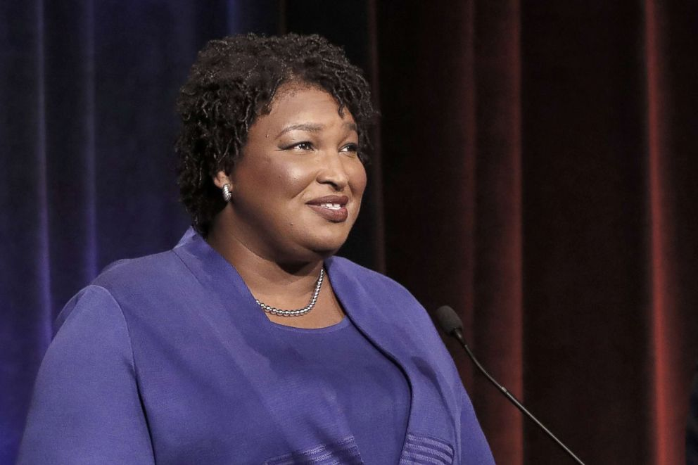 PHOTO: Stacey Abrams, speaks during a debate in Atlanta, Oct. 23, 2018.