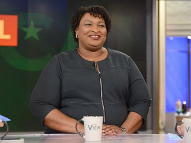 PHOTO: Stacey Abrams speaks on The View, March 27, 2018, in New York City.