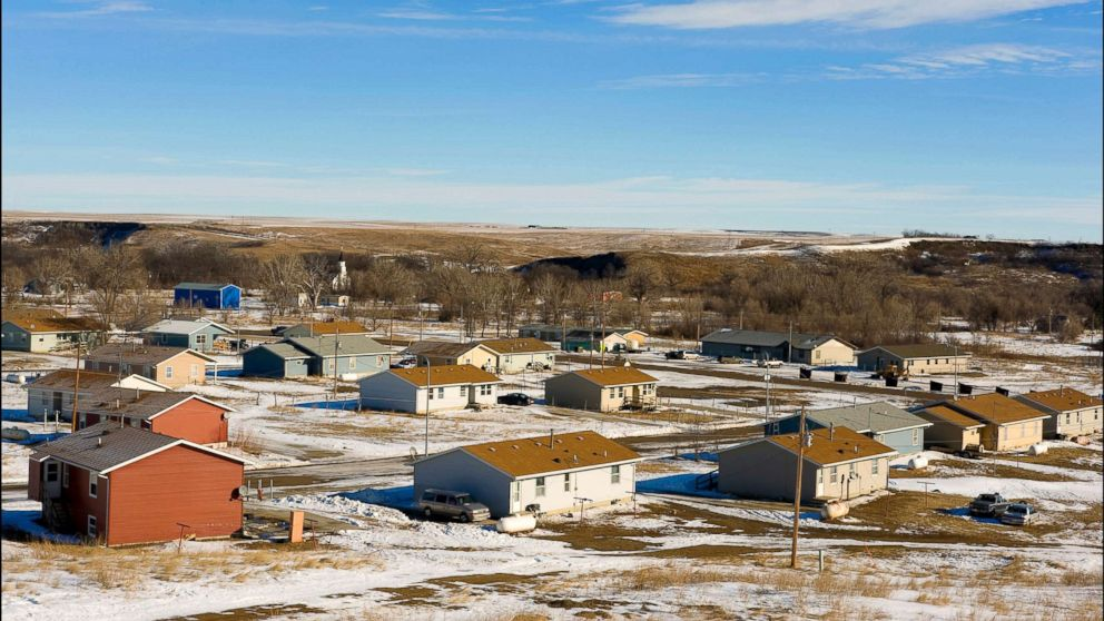 A view of Wakpala, one of Standing Rock's eight districts.