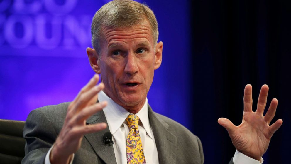 """Retired General Stanley McChrystal speaks during a session called """"Lessons in Leadership"""" at the Wall Street Journal's CEO Council meeting in Washington, Dec. 2, 2014."""