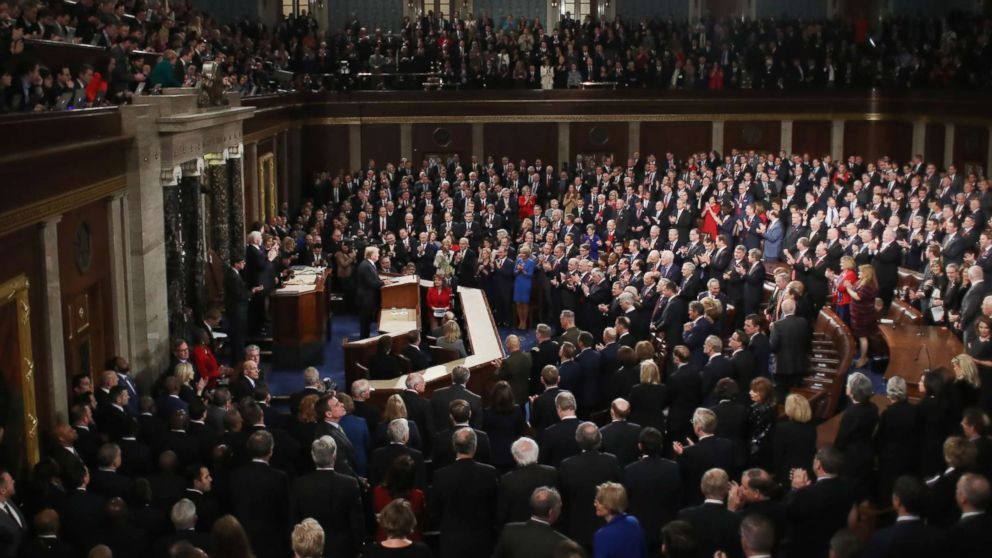 President Donald Trump delivers the State of the Union address in the chamber of the U.S. House of Representatives Jan. 30, 2018 in Washington.