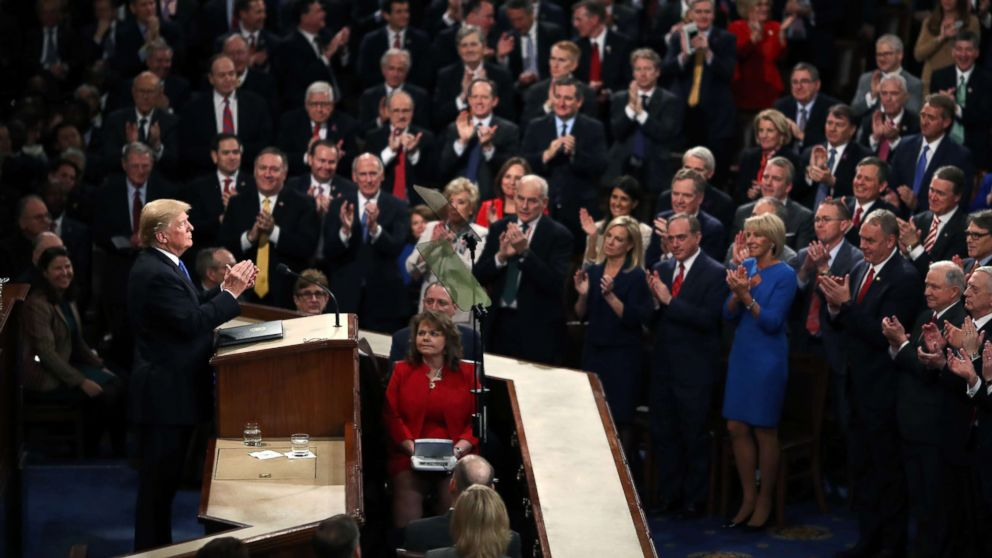 President Donald Trump delivers the State of the Union address in the chamber of the U.S. House of Representatives Jan. 30, 2018, in Washington.