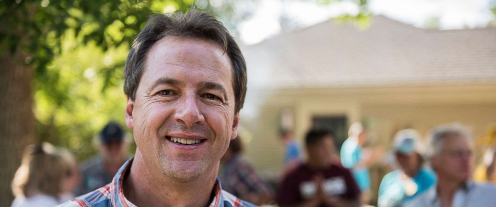 PHOTO: Montana Governor Steve Bullock campaigning at a democrats gathering in Livingston, Montana on July 2, 2016.