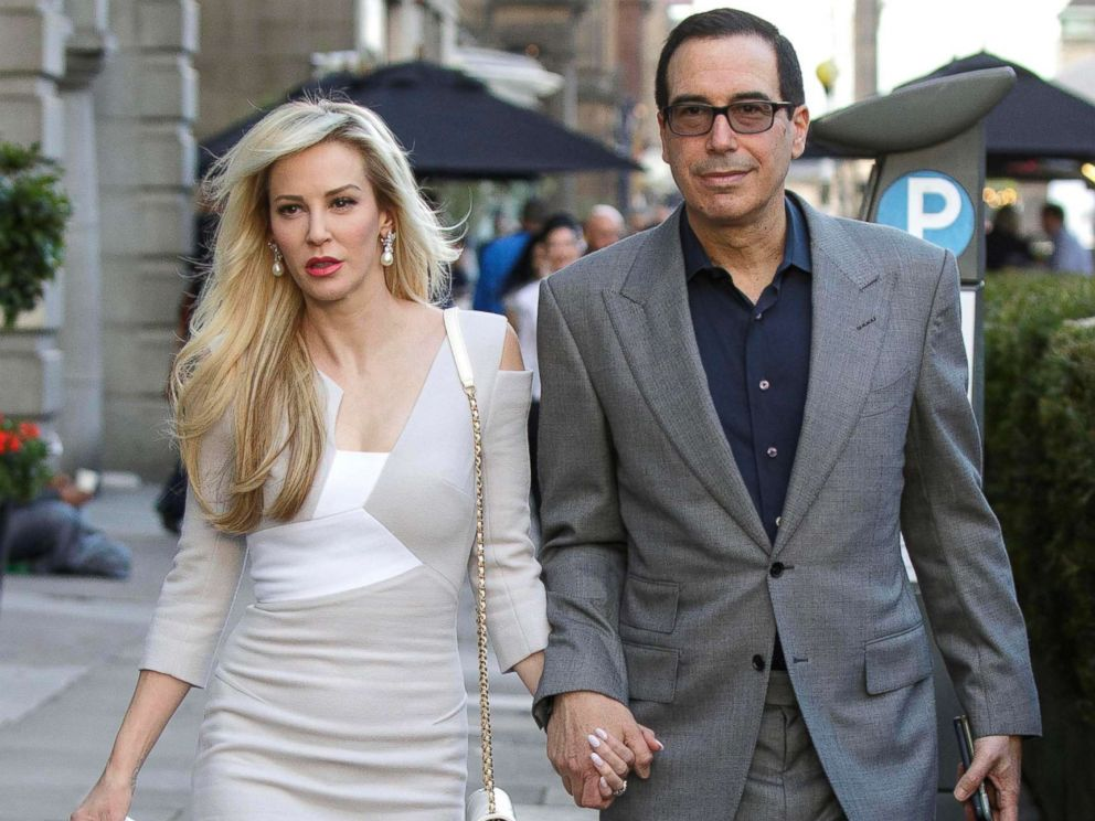 PHOTO: Louise Linton and Treasury Secretary Steve Mnuchin are pictured during their honeymoon in Edinburgh, Scotland, Aug. 5, 2017.