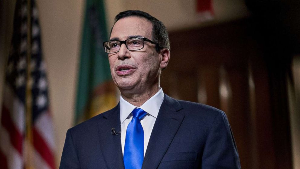 Steven Mnuchin, Treasury secretary, speaks during a Bloomberg Television interview in Washington, D.C., March 7, 2018.