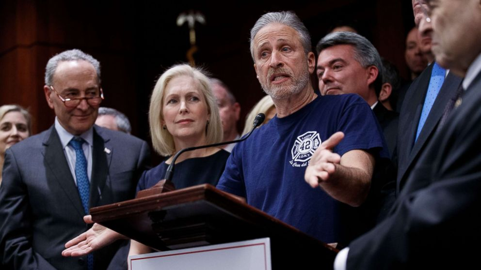 As 9/11 first responders face cuts to health care, Jon Stewart returns to the public eye to fight thumbnail