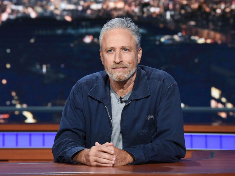 PHOTO: Jon Stewart appears as a guest on The Late Show with Stephen Colbert, June 17, 2019.