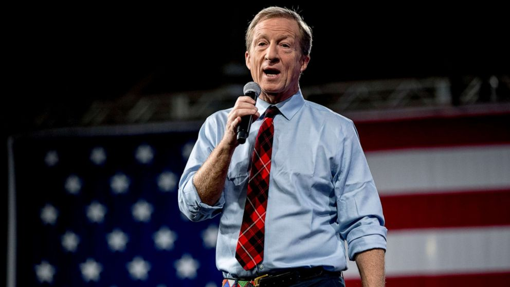 Tom Steyer hoping a strong showing in Nevada, South Carolina will get 'some attention' for his campaign