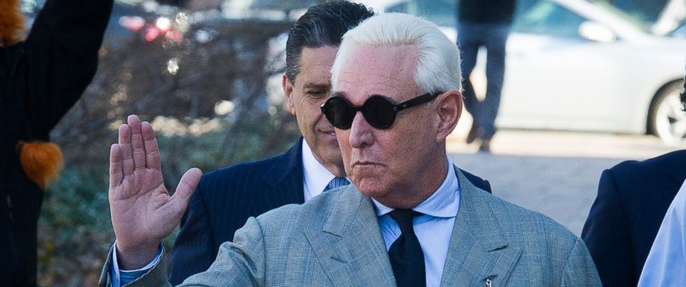 PHOTO: Roger Stone, an associate of President Donald Trump, arrives at District Court, for a court status conference in Washington D.C., March 14, 2019.