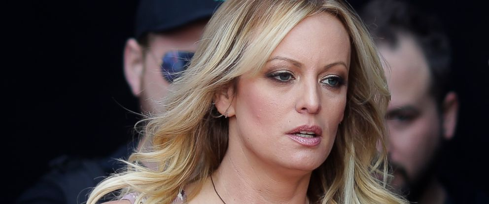 "PHOTO: Adult film actress Stormy Daniels arrives for the opening of the adult entertainment fair ""Venus"" in Berlin, Oct. 11, 2018."