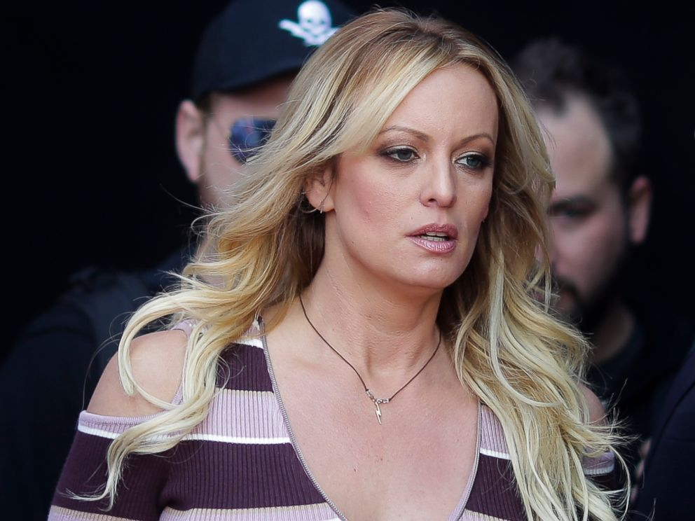 PHOTO: Adult film actress Stormy Daniels arrives for the opening of the adult entertainment fair Venus in Berlin, Oct. 11, 2018.