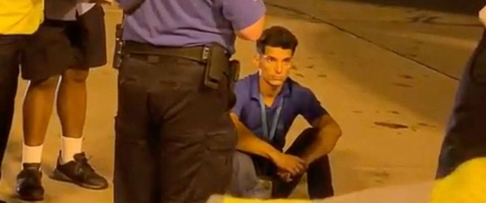 PHOTO: A man was detained by authorities on the tarmac at Miami airport after he was found in the cargo hold of a plane that arrived from Cuba.