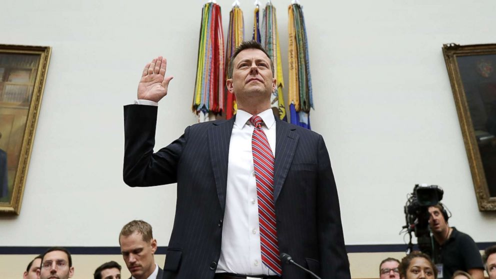Deputy Assistant FBI Director Peter Strzok is sworn in before a joint hearing of the House Judiciary and Oversight and Government Reform committees on Capitol Hill, July 12, 2018 in Washington.