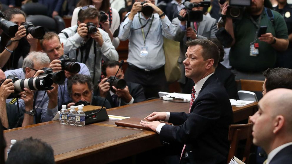 Deputy Assistant FBI Director Peter Strzok waits to testify before a joint committee hearing of the House Judiciary and Oversight and Government Reform committees, July 12, 2018 in Washington.