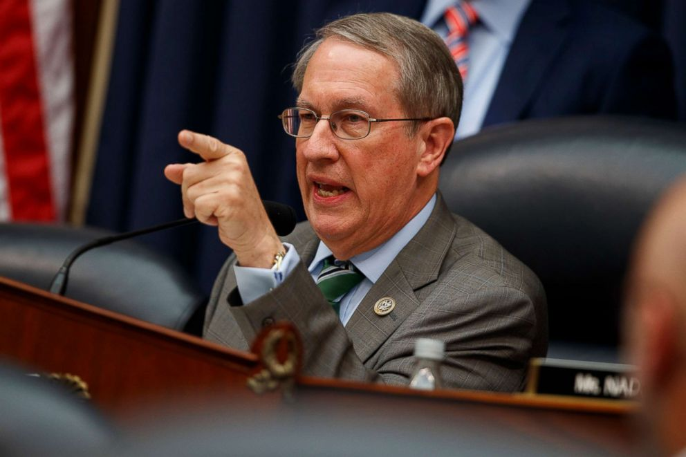 PHOTO: Chairman of the House Judiciary Committee Rep. Bob Goodlatte questions FBI Deputy Assistant Director Peter Strzok during a hearing on on Capitol Hill, July 12, 2018, in Washington.