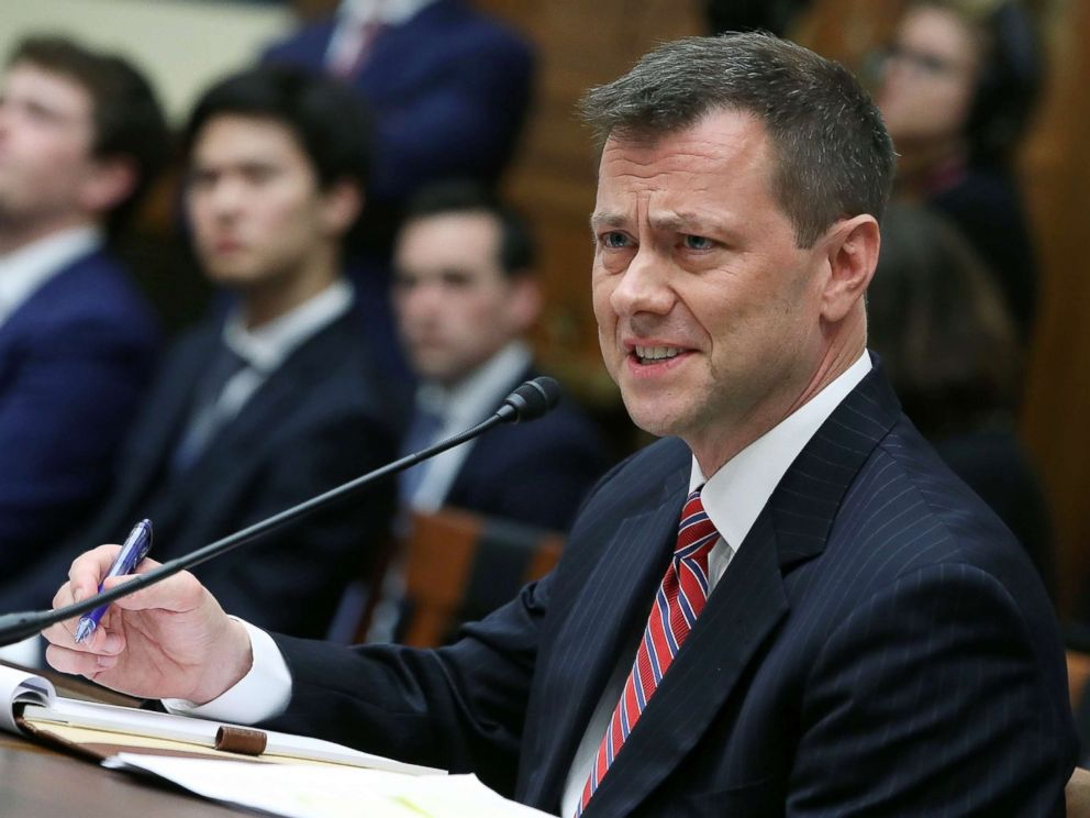 Director Peter Strzok testifies before a joint committee hearing of the House Judiciary and Oversight and Government Reform committees on Capitol Hill