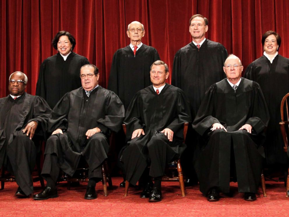 PHOTO: In this Oct. 8, 2010 file photo, members of the Supreme Court gather for a group portrait at the Supreme Court in Washington.