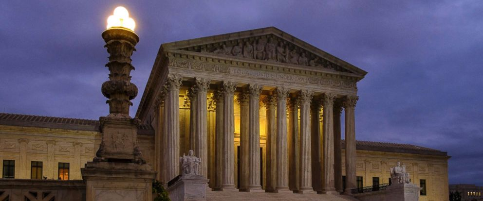 PHOTO: The U.S. Supreme Court building stands before dawn in Washington, D.C., Oct. 5, 2018.