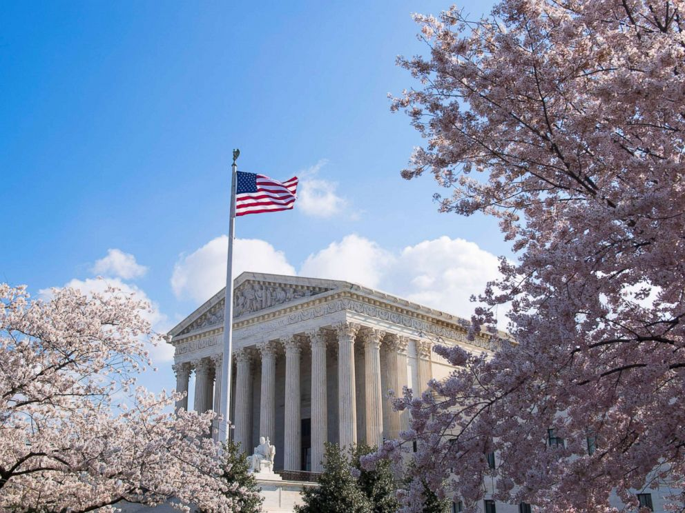 Bill Clark  Getty Images Cherry blossoms frame the U.S. Supreme Court building in Washington