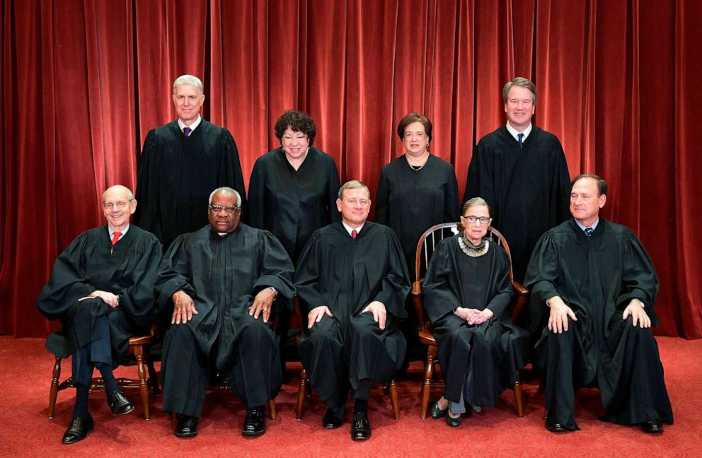 PHOTO: Justices of the US Supreme Court pose for their official photo at the Supreme Court in Washington, DC on November 30, 2018.