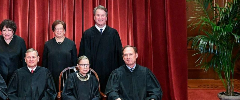 PHOTO: Associate Justices Brett Kavanaugh and Samuel Alito of the Supreme Court pose for their official photo in Washington, Nov. 30, 2018.