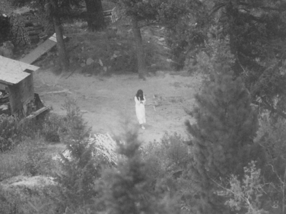 PHOTO: This is the last photograph of Vicki Weaver before she was killed by an FBI sniper Aug. 22, 1992 in the Ruby Ridge standoff. It was taken by USMS surveillance the morning of Aug. 21, 1992 and was evidence at the subsequent trial.