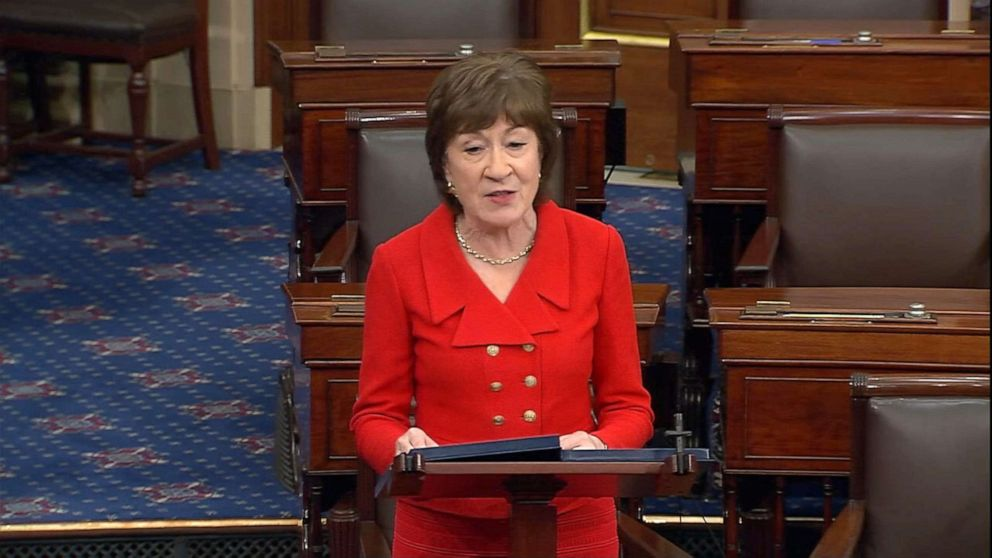 As Senate Republicans push for vote on Supreme Court nominee, Collins objects