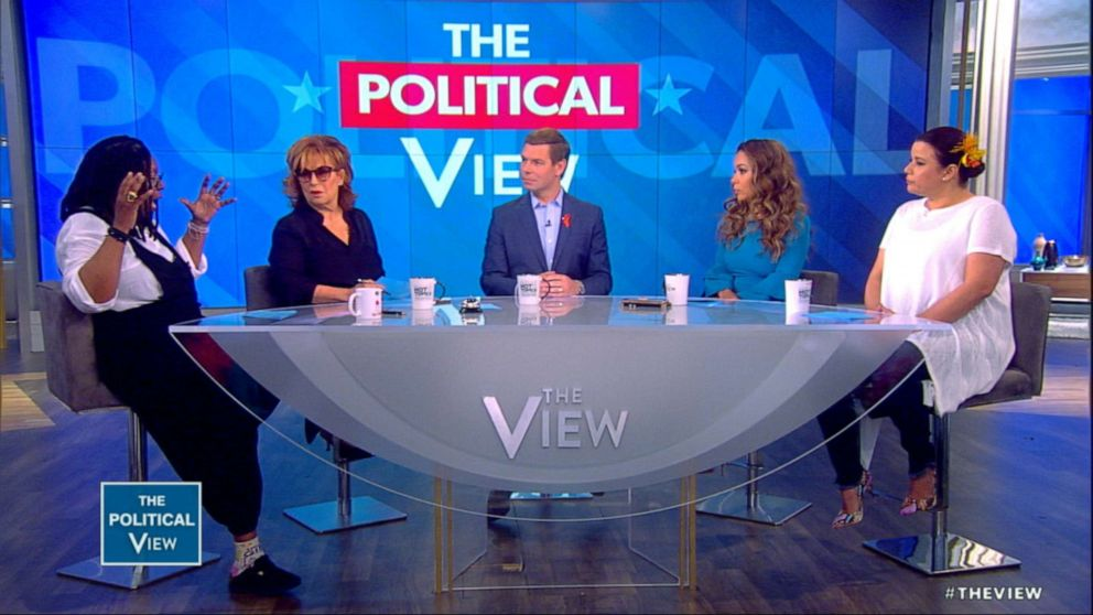 PHOTO: Democratic presidential candidate Rep. Eric Swalwell on The View, June 4, 2019.