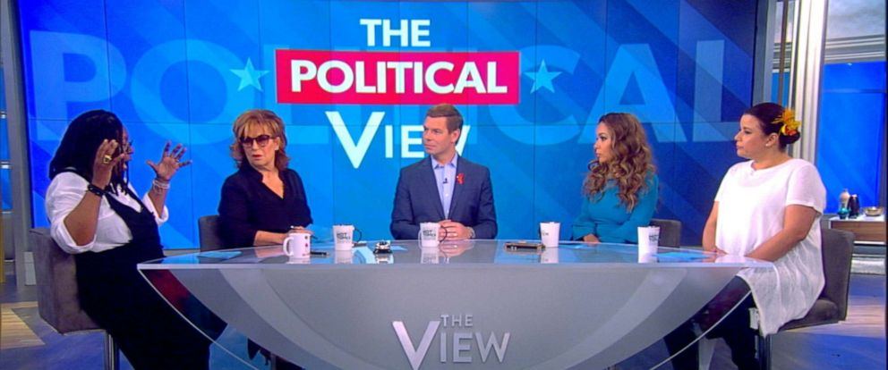 "PHOTO: Democratic presidential candidate Rep. Eric Swalwell on ""The View,"" June 4, 2019."