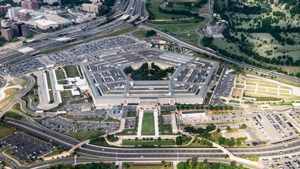 PHOTO: Aerial view shows the Pentagon in Arlington, Va., June 30, 2020.