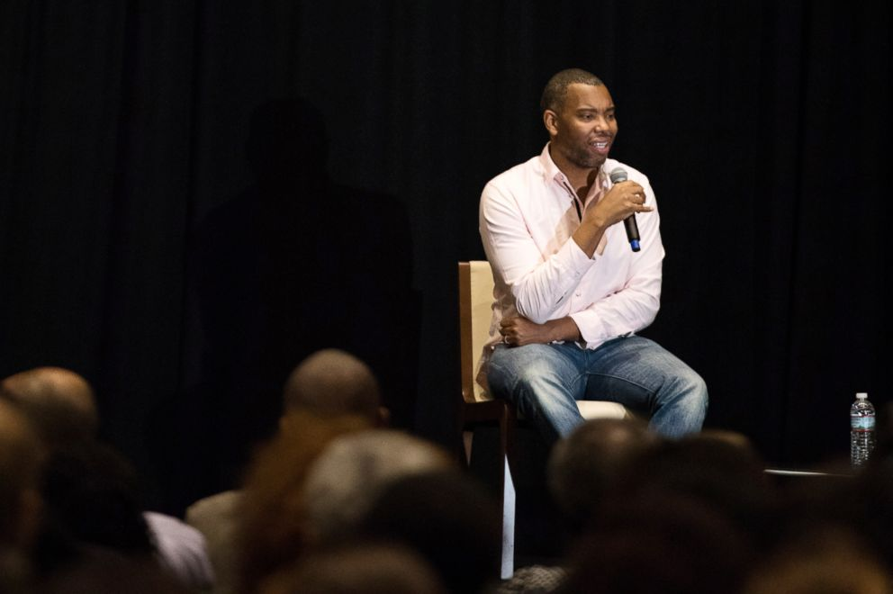 PHOTO: Ta-Nehisi Coates speaks at The Smithsonian National Museum of African American History and Culture in Washington, Oct. 10, 2017.