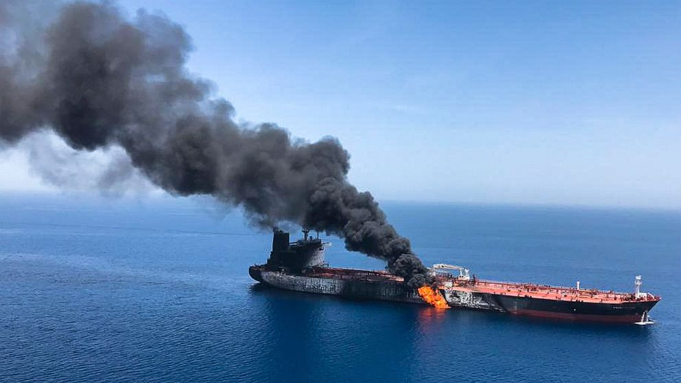 Image result for Trump: Iran is responsible for today's attacks in the Gulf of Oman