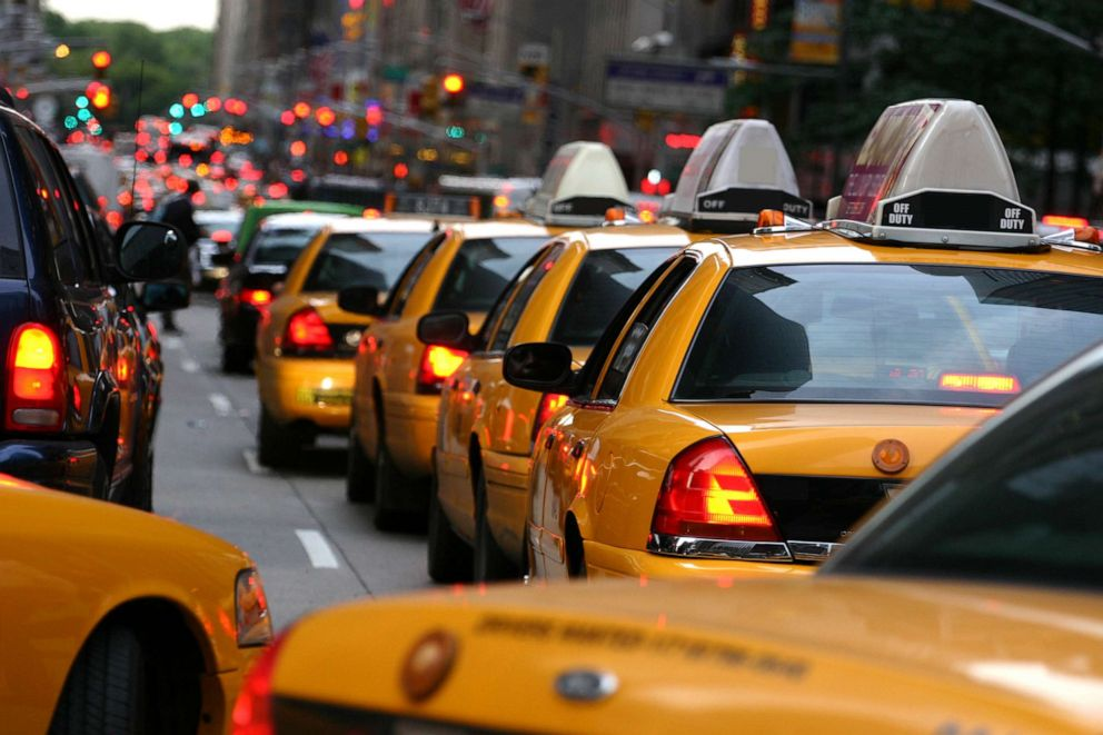 PHOTO: Taxi cabs in New York.