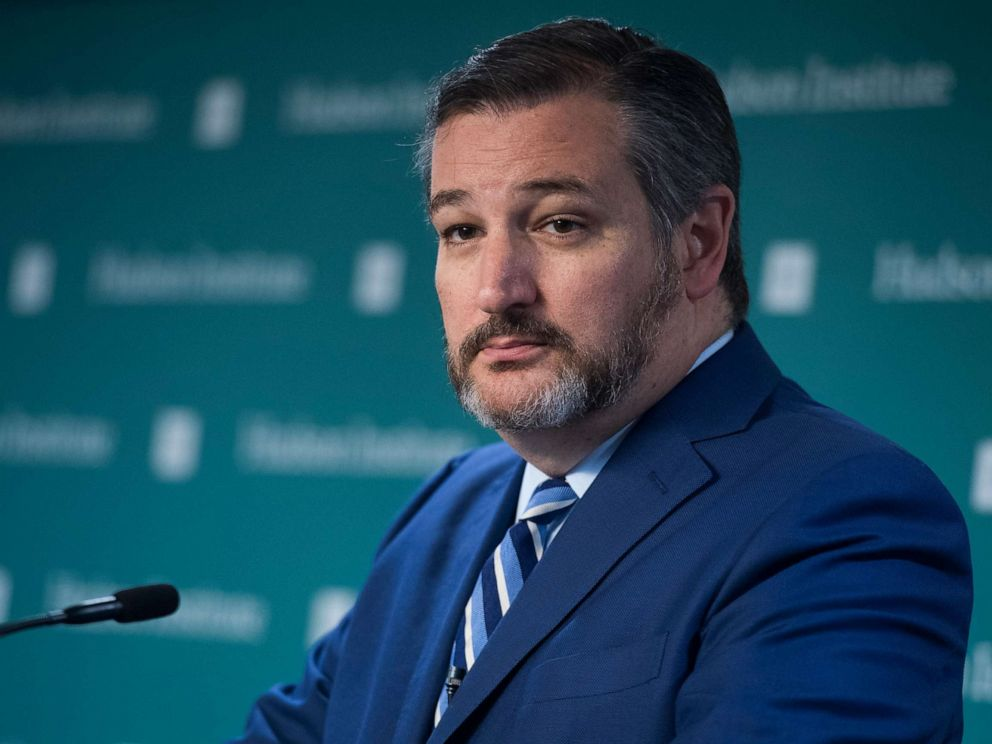 PHOTO: Sen. Ted Cruz speaks during a discussion titled Interventionism vs. Isolationism at the Hudson Institute in Washington, September 3, 2019.