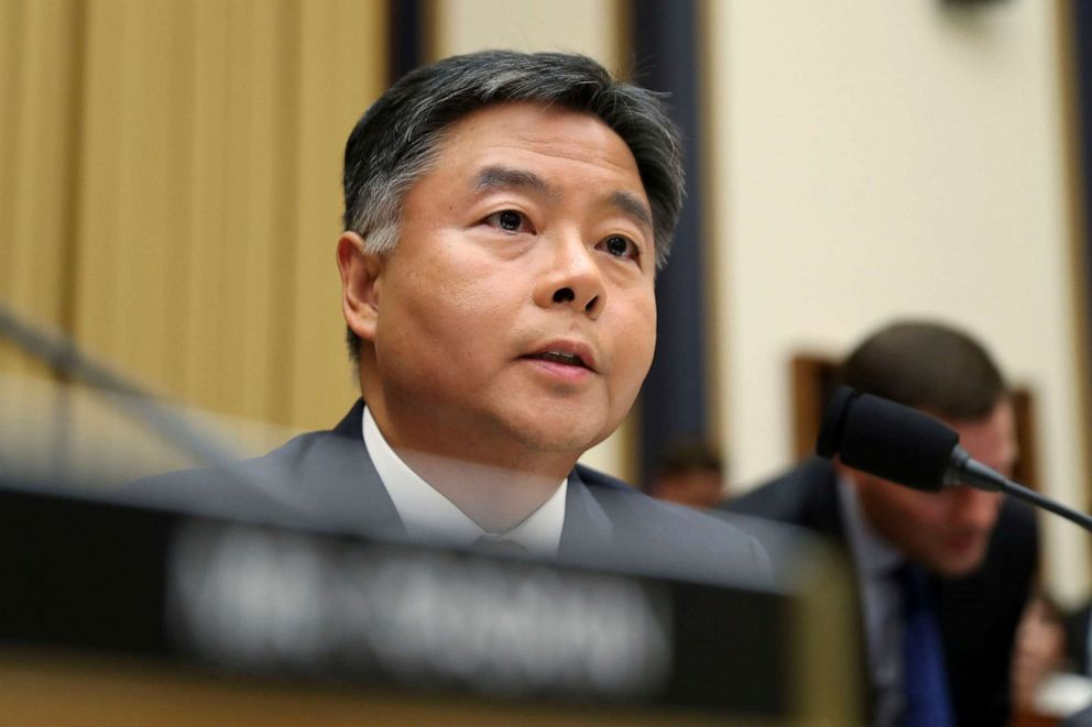 PHOTO: Rep. Ted Lieu asks questions to former special counsel Robert Mueller, as he testifies before the House Judiciary Committee hearing on his report on Russian election interference, on Capitol Hill, in Washington, D.C., July 24, 2019.