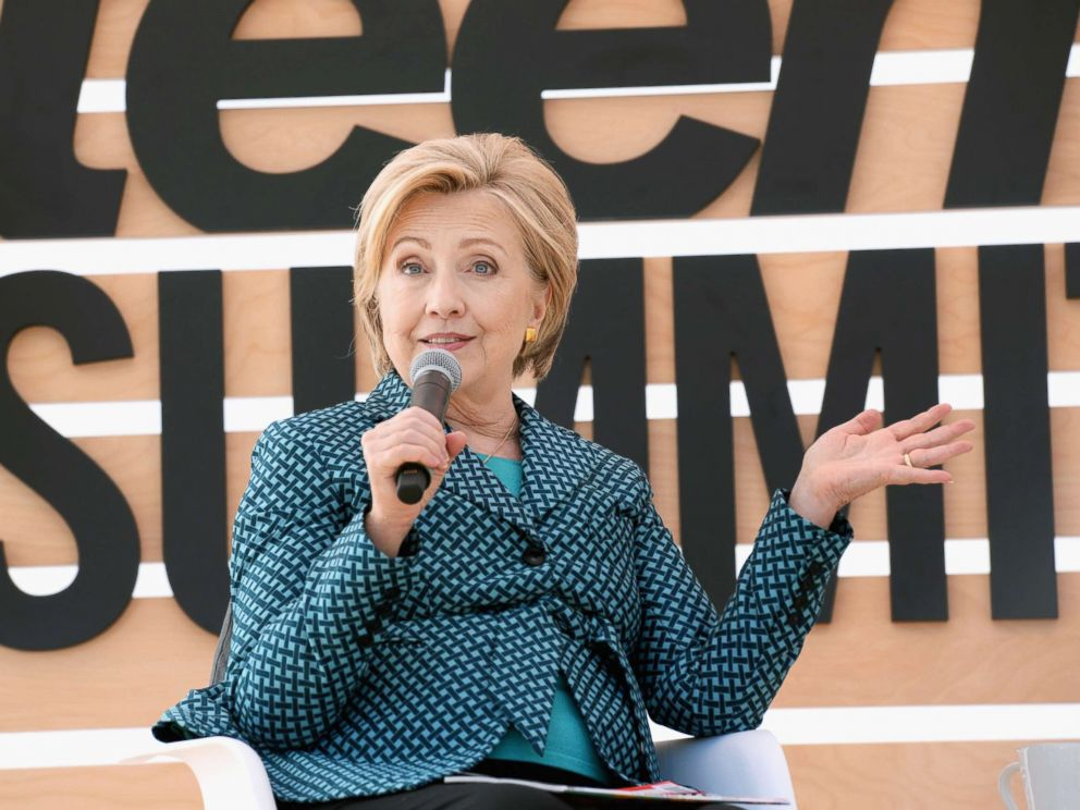 PHOTO: Hillary Clinton speaks onstage during The Teen Vogue Summit, Dec. 2, 2017, in Playa Vista, Calif.