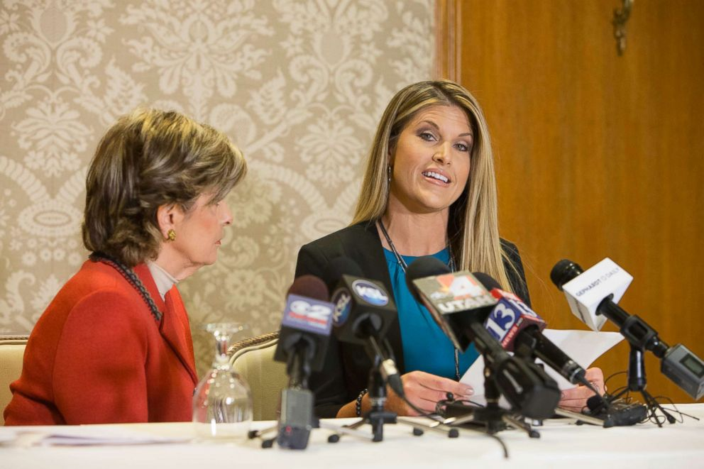 PHOTO: Temple Taggart holds a press conference at Little America Hotel, Oct. 28, 2016, in Salt Lake City, Utah.